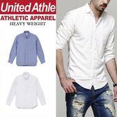 United Athle日系牛津扣領長袖襯衫 圓弧 素色
