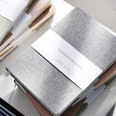 簡約純色布面手帳本空白方格手賬本筆記本文具記事本子Z 免運滿499元88折秒殺