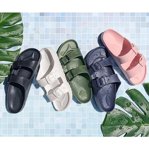 【富發牌】輕量造型防水拖鞋-橘/芋/黑/白/藏青/粉/軍綠/湖水綠/黃 1SH01