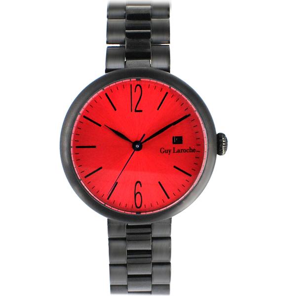 姬龍雪Guy Laroche Timepieces現代簡約時尚女錶 LW5054A-09 紅