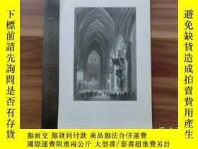 二手書博民逛書店【罕見】19世紀 銅 鋼版畫 單幅 INTERIOR OF TH