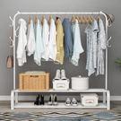 落地晾衣架單桿式掛衣桿室內簡易衣架家用臥室衣服架子陽臺涼衣架 MKS免運