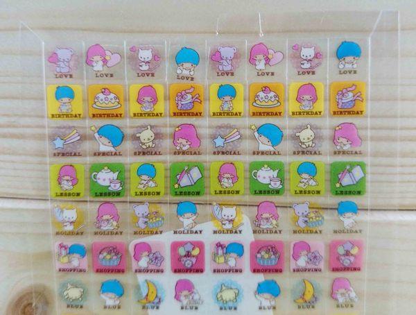 【震撼精品百貨】Little Twin Stars KiKi&LaLa 雙子星小天使~小貼紙-透明