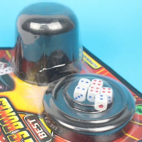 骰盅 6681 過五關骰盅遊戲(卡裝)/一個入促50 吹牛骰子樂~CF104138