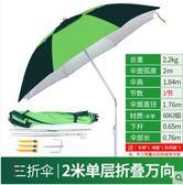 釣魚傘2.2米萬向防雨戶外釣傘摺疊漁具用品