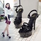 高跟鞋 15cm超高跟鞋女夏新款細跟涼鞋...