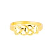 相愛小魚-黃金戒指-小魚戒指