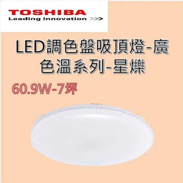 TOSHIBA 東芝 星爍 61W LED 調光美肌吸頂燈 LEDTWTH61S 含基本安裝