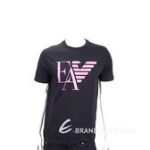 Emporio Armani EA 老鷹標誌黑色短袖T恤(男款) 1920692-01