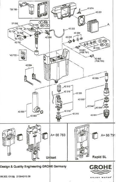 【麗室衛浴】德國 GROHE DAL 水箱零件總覽目錄