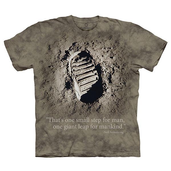 【摩達客】(預購)美國進口The Mountain Smithsonian系列偉大的一步 純棉環保短袖T恤