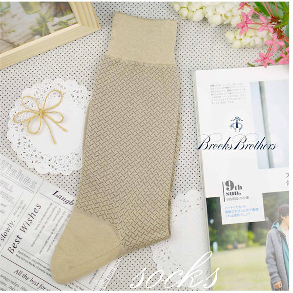 【大盤大】Brooks Brothers 長筒襪 名牌男襪子 薄中筒襪 25cm 圖案休閒襪 抗臭 吸汗束襪 禮物 薄款