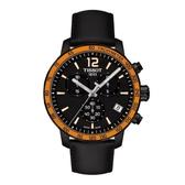 TISSOT 天梭 運動 三眼計時手錶 (T0954173605701) 皮帶/42mm