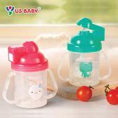 吸管杯學飲杯 寶寶兒童水杯 彈跳吸管練習杯吸管杯