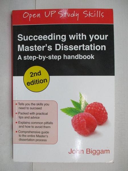 【書寶二手書T9/字典_DFV】Succeeding With Your Master's Dissertation: A Step-by-Step Handbook_Biggam, John