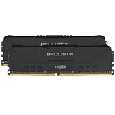 Micron 美光 Crucial Ballistix DDR4-3200 16GB RAM 桌上型 超頻記憶體 8GB*2 黑色 BL2K8G32C16U4B