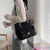 特賣手提托特包女大包包女新款潮韓版大容量側背斜背包百搭時尚質感鏈條托特包