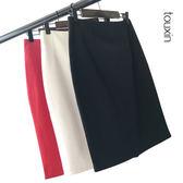春夏新款一步裙中長款職業裙子包臀裙彈力氣質修身包裙高腰半身裙   9號潮人館