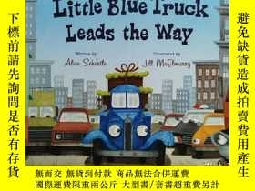 二手書博民逛書店Little罕見Blue Truck Leads the Way