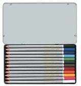 [奇奇文具]【雄獅 SIMBALION 色鉛筆】 雄獅C1200/8 塗頭色鉛筆 (12色/鐵盒)