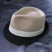 帽子女夏季遮陽帽男士巴拿馬草帽禮帽夏老頭兒涼帽爵士帽男【聚物優品】