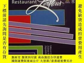 二手書博民逛書店restaurant罕見menu(德文原版米其林三星級餐廳與菜單