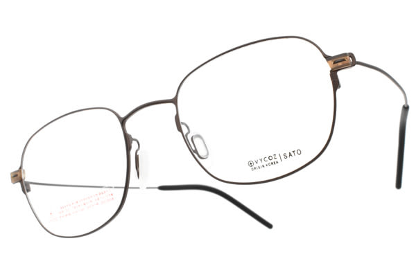 VYCOZ 光學眼鏡 SATO BRN (棕) 輕量方框 鈦眼鏡  #金橘眼鏡