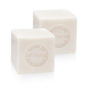 【二入組】【法國進口】戴奧飛‧波登 方塊馬賽皂- 驢奶芬芳  100g (約4.5x4.5x4.5cm)