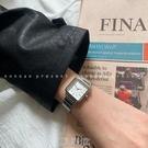 NONOAN 竹節鏈條鋼帶手錶女士時尚簡約氣質復古方形女錶學生ins風 [現貨快出]