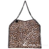 Stella McCartney Falabella 豹紋圖騰鍊帶肩背包 1540909-50