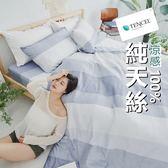 『TCL06』奧地利100%TENCEL涼感純天絲5尺標準雙人床包枕套三件組(不含被套)床單 床套 床巾