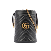 【GUCCI】GG Marmont水桶斜背包(mini)(黑色) 575163 DTDRT 1000