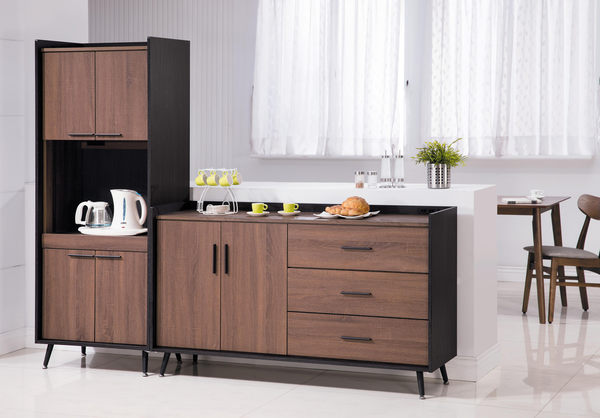 【森可家居】克德爾2尺電器櫃 7JX219-2 餐櫃 廚房櫃 碗盤收納 木紋質感 北歐工業風