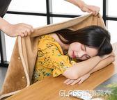 珊瑚絨毯子單人學生小毛毯午睡毯辦公室加厚空調毯斗篷     琉璃美衣