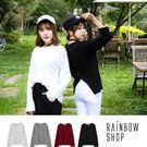 現貨-自訂款-圓領後開衩棉質上衣-E-Rainbow【A781801】