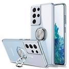三星Note20/10/9/8透明電鍍指環保護殼 SamSung保護套 Galaxy n20 Ultra手機套 素面皮套 三星note 10pus手機殼