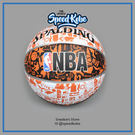 SPALDING 籃球 NBA 塗鴉 白黑橘 室外 7號球 SPA73722【SP】
