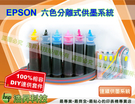 EPSON  R210/R230/R350/RX510/R310 六色T0491~T0496系列有線連續大供墨DIY套件組(公司貨)