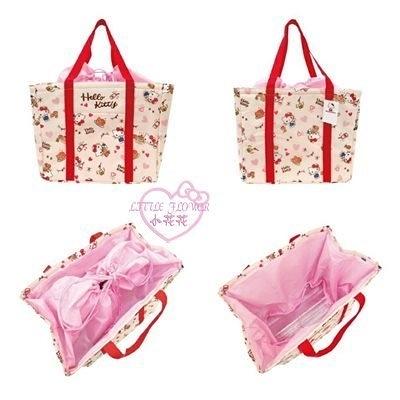 小花花日本精品HelloKitty雙子星束口保冷袋保溫袋野餐袋便當袋外出手提袋單一價10031506