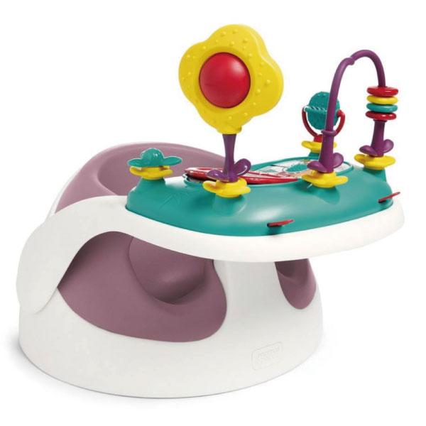英國mamas&papas 二合一育成椅v2-乾燥玫瑰(附玩樂盤)