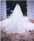 婚紗頭紗新款緞面包邊拖尾超長