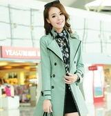風衣大衣-焦點俐落造型女長版外套5色5z60【巴黎精品】