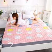床墊子1.8m床雙人墊被1.2米單人學生宿舍海綿榻榻米折疊1.5床褥子wy