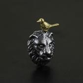 項鍊 925純銀吊墜-獅子與小鳥情人節生日禮物女飾品2色73gm86【時尚巴黎】