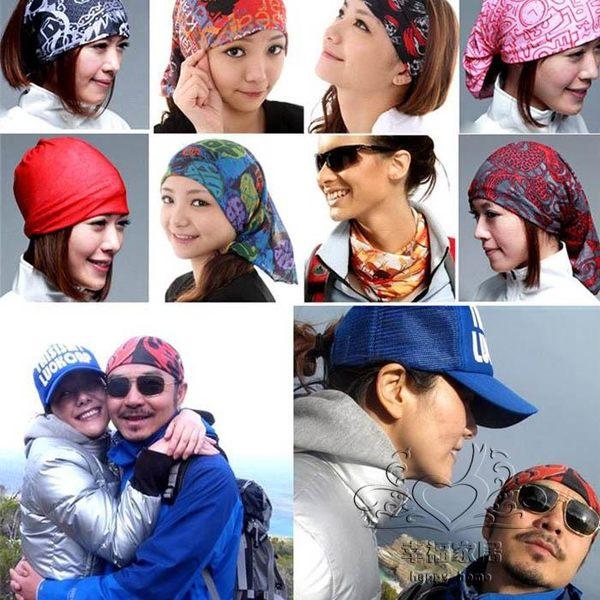 (聖誕交換禮物)【買一送一】戶外運動頭巾 防曬面巾面罩無縫多功能魔術頭巾速干