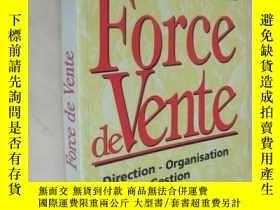 二手書博民逛書店法文原版罕見Force de vente. Direction - Organisation - Gestion奇