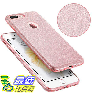 [106美國直購] 手機殼 iPhone 7 Plus Case [Anti-Discoloration, Durable TPU Rubber Twinkling Soft Stylish Design