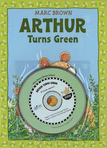【麥克書店】ARTHUR TURNS GREEN /英文故事繪本+CD