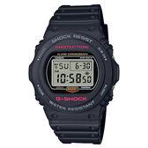 【僾瑪精品】CASIO 卡西歐 G-SHOCK 經典圓形復刻休閒錶-黑X紅/DW-5750E-1