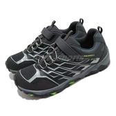 Merrell 戶外鞋 Moab FST Low A/C Waterproof 黑 灰 女鞋 大童鞋 越野 休閒鞋 運動鞋【ACS】 MK264178